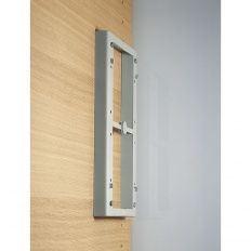 Dištančný rám 20mm sivý pre sklop. šatnikovú tyč