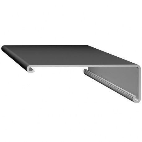 Rehau kryt pre krycí profil s presahom L-2500mm plast strieborný