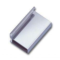 Úchytka na sklenené dvere 4-6mm, pochrómovaná