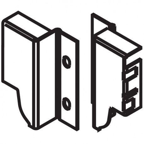 Tandembox držiak chrbta biely M - 98,5mm