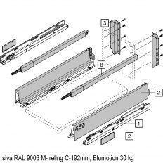 Antaro sada Blumotion sivá M- reling C-192mm