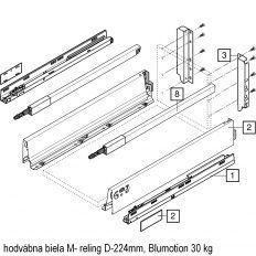 Antaro sada Blumotion biela M- reling D-224mm