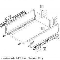 Antaro sada Blumotion biela K-130.5mm