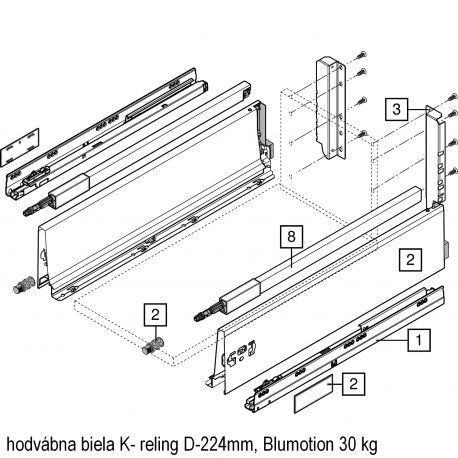 Antaro sada Blumotion biela K- reling D-224mm