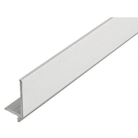 Rehau krycí horný profil 25x46mm L-2300mm plast, strieborný