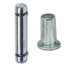 Čap d-9mm s narážacím puzdrom d-13 mm, oceľ-zamak
