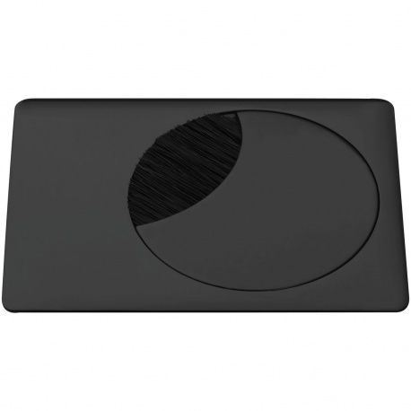 Káblová priechodka s protiprach. kefou, 90x120mm, čierna matná
