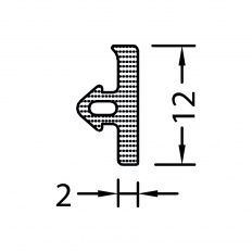 Tesnenie TD 12-2 cierne