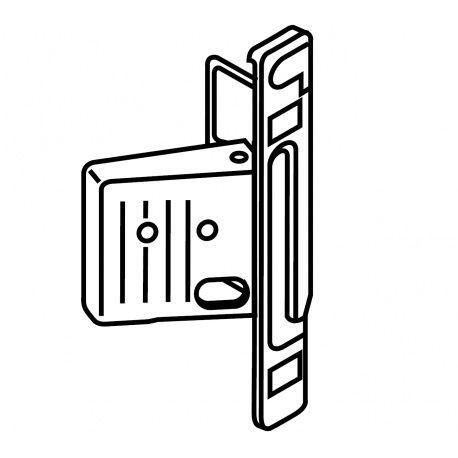 Metabox upevnenie čela Clip na skrutky boky M,K,H ľavé