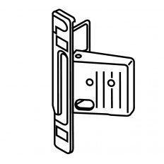 Metabox upevnenie čela Clip na skrutky boky M,K,H pravé