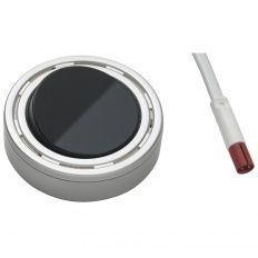 Mini zástrčka, vypínač, 2000mm, farba hliníka - tlačidlo čierne