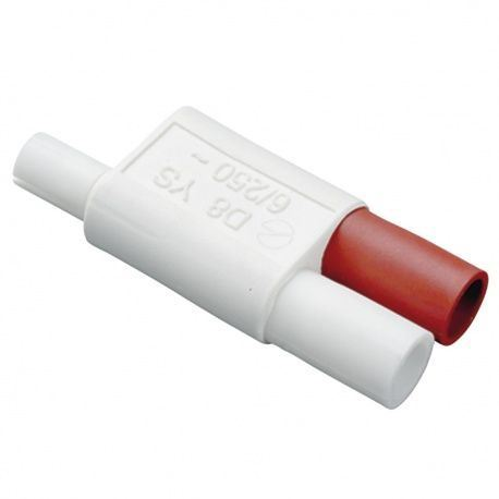 Mini zástrčka, spojka s prívodom pre vipínač 230V