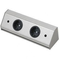 Zásuvková lišta Corner Compact 230 V, 260x71x71mm 2 zásuvky
