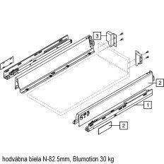 Antaro sada Blumotion biela N-82.5mm