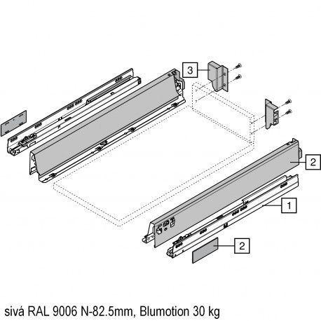 Antaro sada Blumotion sivá N-82.5mm