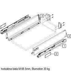 Antaro sada Blumotion biela M-98.5mm