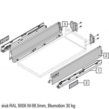 Antaro sada Blumotion sivá M-98.5mm