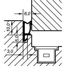 Tesnenie okenné ACF 5473H 10mm, 240m