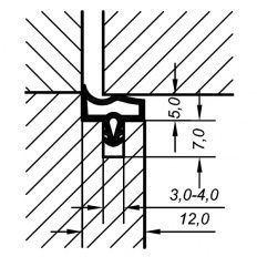 Tesnenie dverové EV 3967, 50m