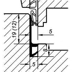 Tesnenie okenné TKS 5427 19/12mm, 25m
