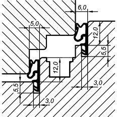 Tesnenie okenné ACF 5005H 12mm, 200m