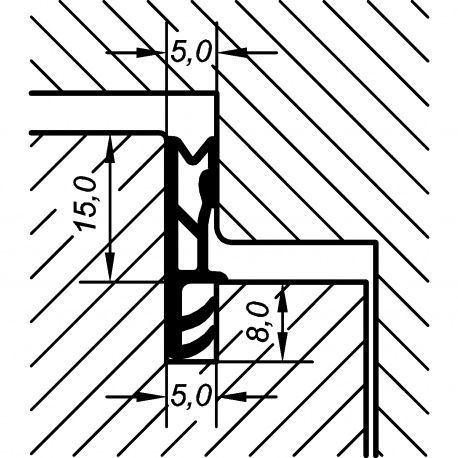 Tesnenie okenné EV 5250 15mm, 15m