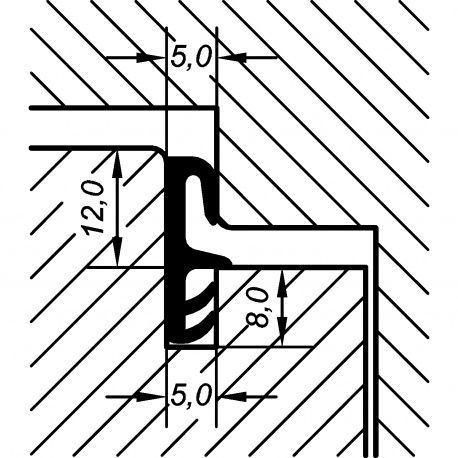 Tesnenie okenné EV 4050 12mm, 20m