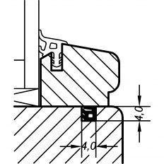 Tesnenie okenné AC 5587 D pod lištu, 400m, RAL8002 hnedá