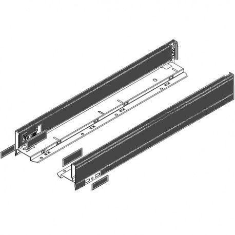 Legrabox súprava bokov čierne N_80, 450mm