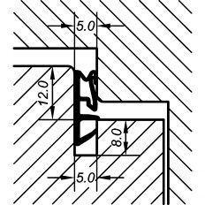 Tesnenie okenné ACF 5000H 12mm, 200m