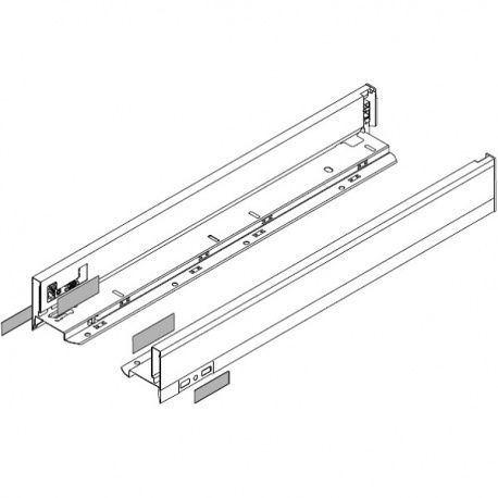 Legrabox súprava bokov biele N_80, 500mm