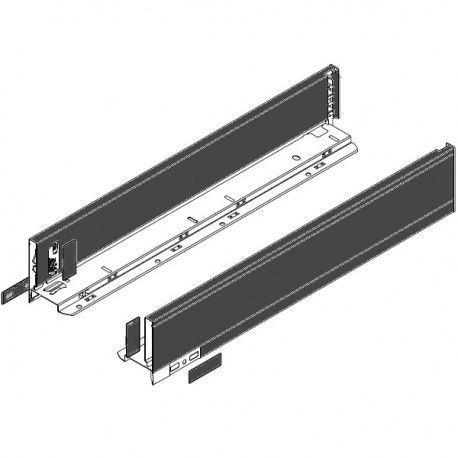 Legrabox súprava bokov čierne M_106, 600mm