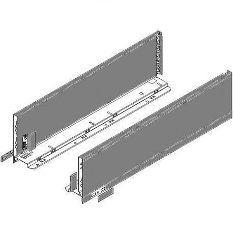 Legrabox súprava bokov sivé K_144, 500mm