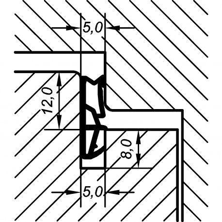 Tesnenie okenné ACF 6000 H 12mm