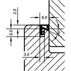 Tesnenie okenné ACF 6020 2.5mm, 200m