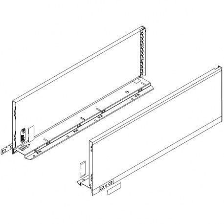 Legrabox súprava bokov biele C_193, 550mm