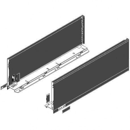 Legrabox súprava bokov čierne C_193, 600mm