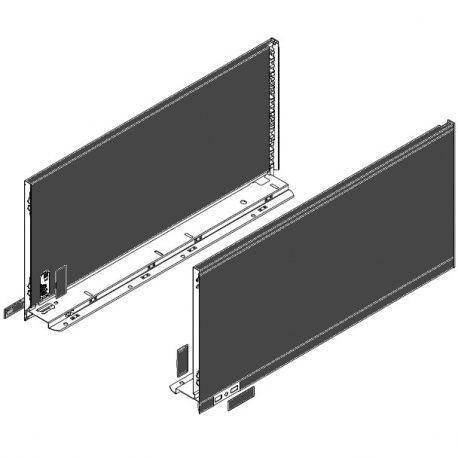 Legrabox súprava bokov čierne F_257, 600mm