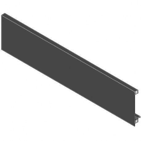 Legrabox predná časť bez drážky čiery