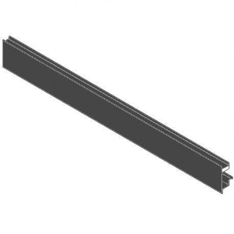 Legrabox predná časť s drážkou čiery pre zasúvací prvok