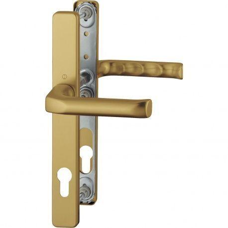 Hoppe London úzky štítok, kľučka-kľučka 92/8mm, 67-72mm, bronz