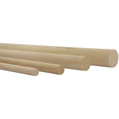 Drevená buková tyč hladká, L-1000mm