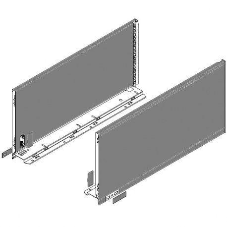 Legrabox súprava bokov sivé F_257, 650mm
