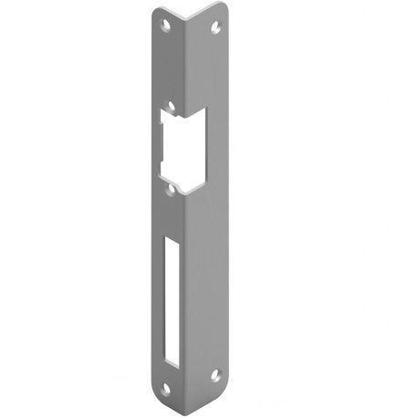 Protiplech pre otvárač dverí oblýl, 250x25x2mm sivá oceľ, ľavý
