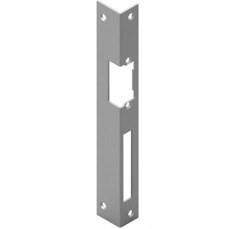 Protiplech pre otvárač dverí hranatý 250x25x2mm sivá oceľ, pravý