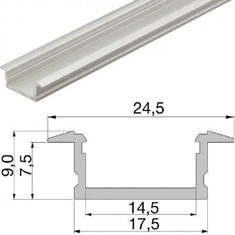 Led profil zápustný YT01, ALF1 3000mm