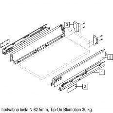 Antaro sada Tip-On Blumot. biela N-82.5mm