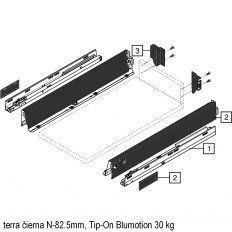 Antaro sada Tip-On Blumot. čierna N-82.5mm