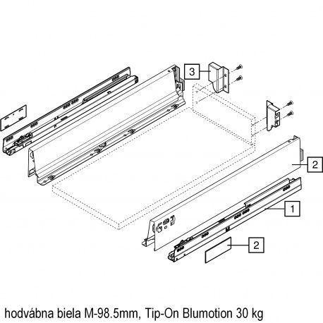 Antaro sada Tip-On Blumot. biela M-98.5mm