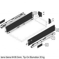 Antaro sada Tip-On Blumot. čierna M-98.5mm